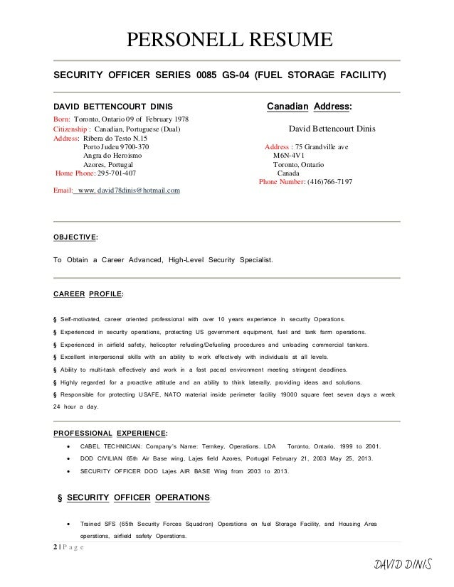 resume format signed - Canadian Format Resume