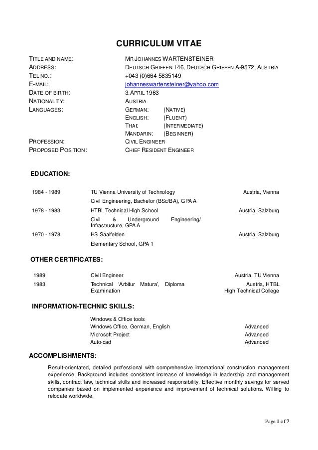 Nice Curriculum Vitae World Bank Format V3 Rh Slideshare Net World Bank Cv  Format Template World Bank Cv Format 2017