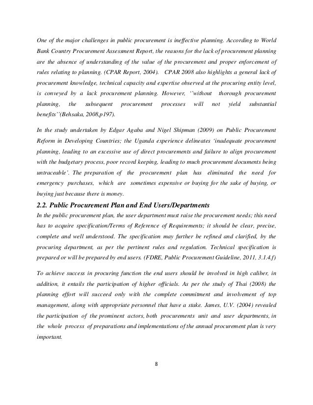 Banking in uganda and procurement management