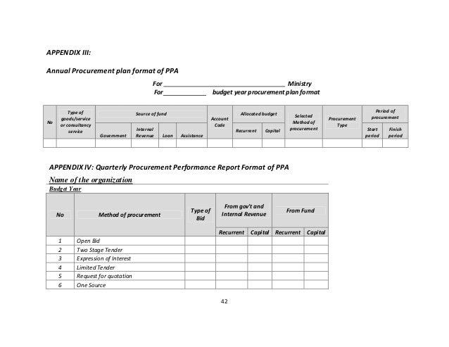 Assessment of Procurement Plan Implementaion Practice – Assessment Plan Template