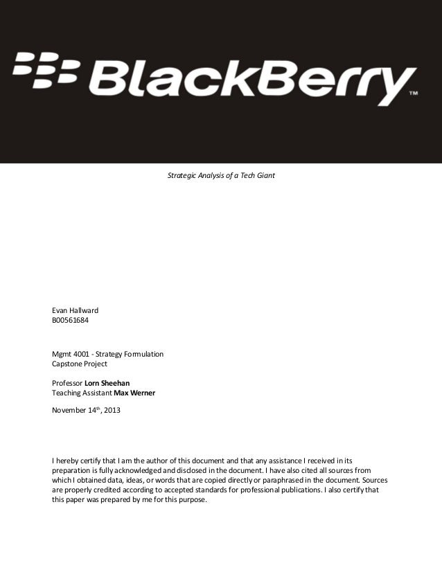 BlackBerry Case Study - November 2013