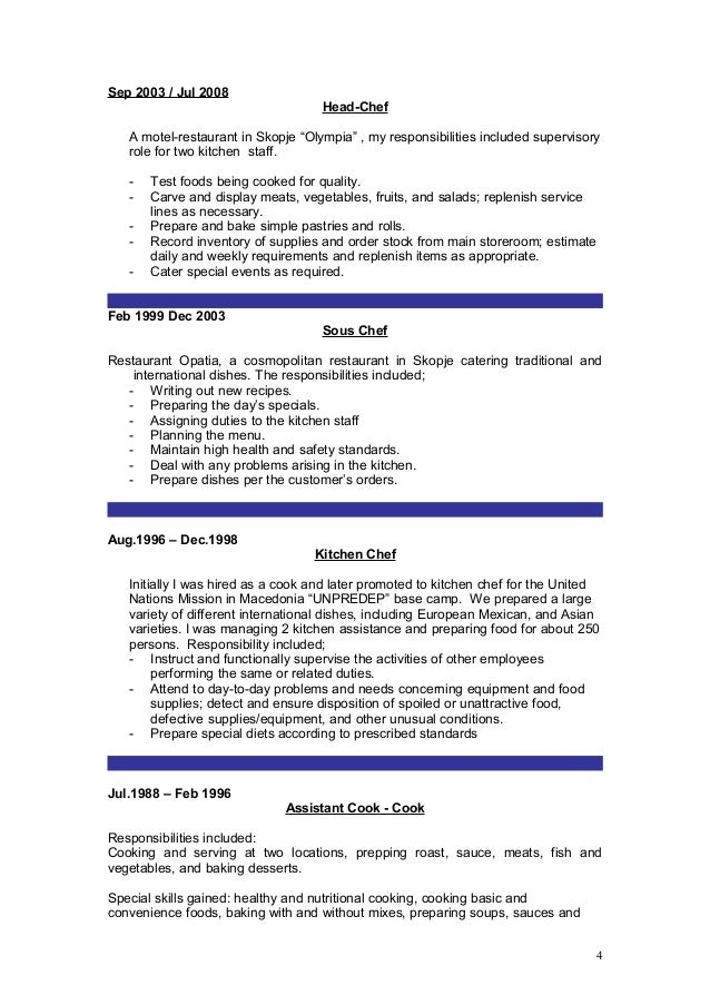 modern kitchen staff resume gallery professional resume examples