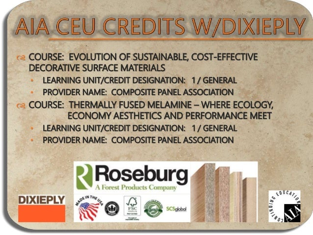  COURSE: CLIMATE ZONED CLADDING AND CONTEMPORARY COMMERCIAL SOLUTIONS WITH FIBER CEMENT SIDING • LEARNING UNIT/CREDIT DES...