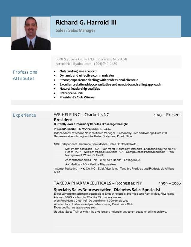 richard harrold resume 2017