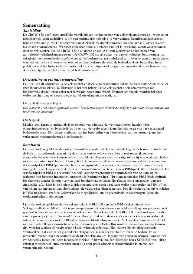 Hoe veilig is het werken in een verontreinigde bodem(compleet)_K.Hoogeboom_1607516_MilieukundeDuaal Slide 3