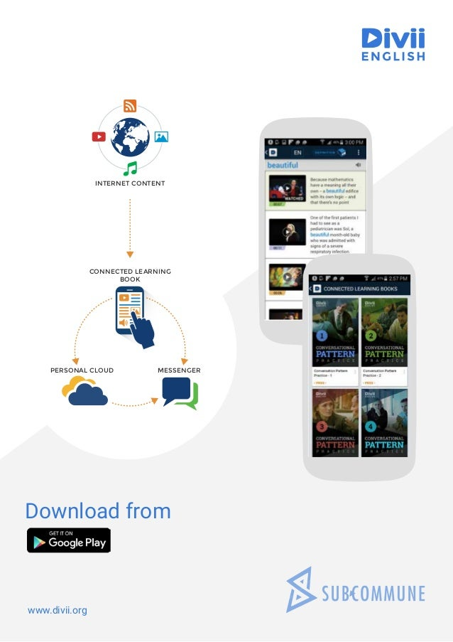 INTERNET CONTENT CONNECTED LEARNING BOOK PERSONAL CLOUD MESSENGER www.divii.org Download from