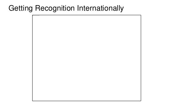 Getting Recognition Internationally