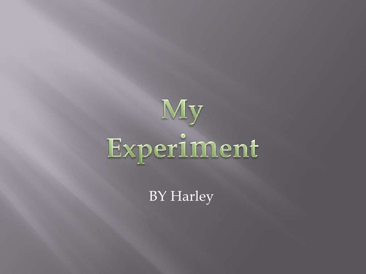 My Experiment <br />BY Harley<br />
