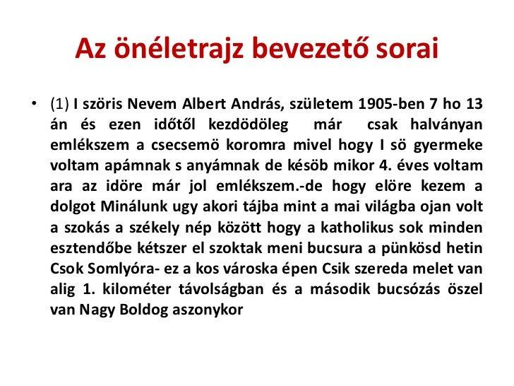 önéletrajz bevezető Albert András rövid életrajza képekkel önéletrajz bevezető