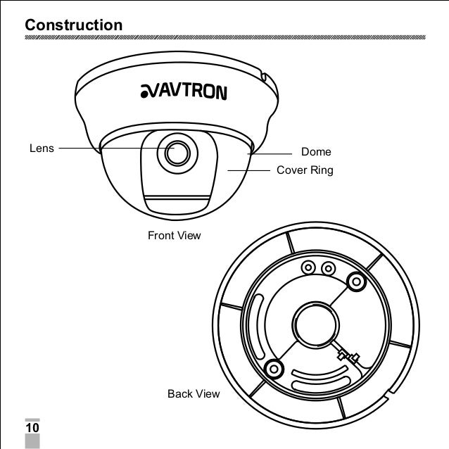 Avtron Dome Camera Aa 6003-fs-manual