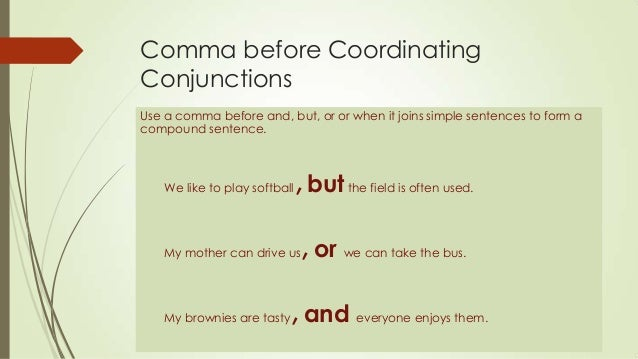 comma and yet or maybe and yet comma