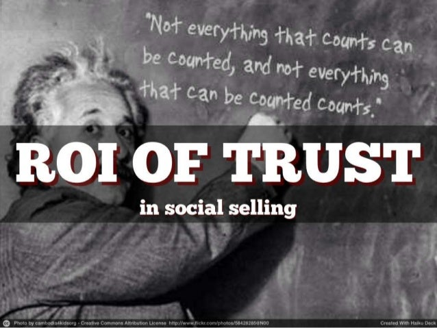 The ROI of Trust in Social Selling