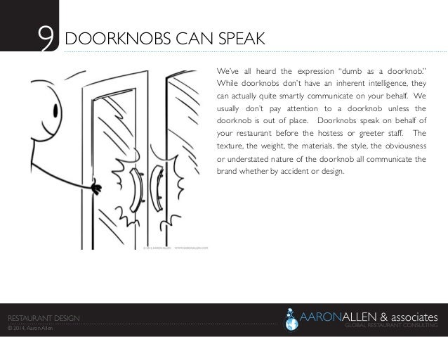 "9	  DOORKNOBS CAN SPEAK	  We've all heard the expression ""dumb as a doorknob.""  While doorknobs don't have an inherent int..."