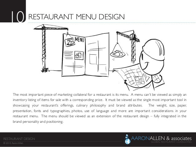 Restaurant menu design the