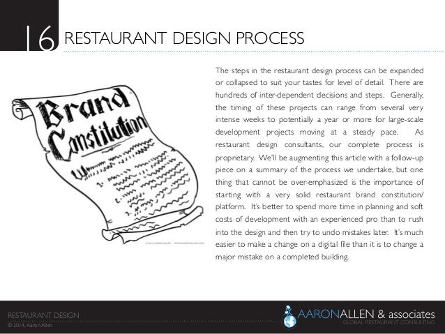 16 restaurant design process the