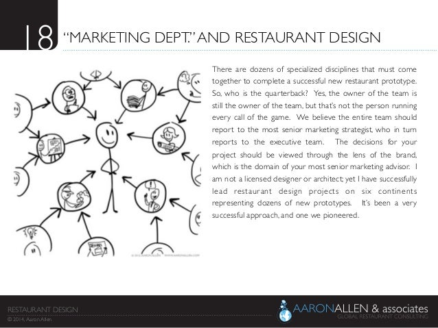 And restaurant design there are dozens of specialized disciplines that