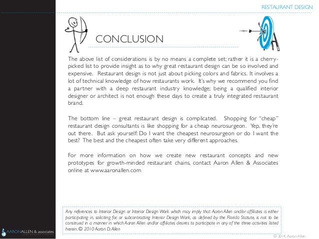 Restaurant design conclusion the