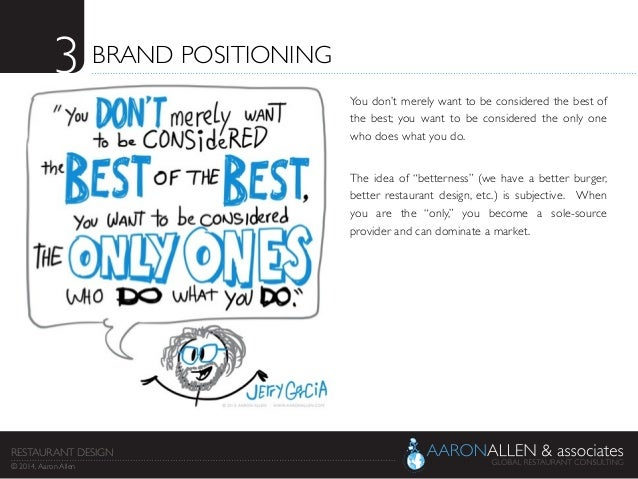 3  BRAND POSITIONING   You don't merely want to be considered the best of the best; you want to be considered the only o...