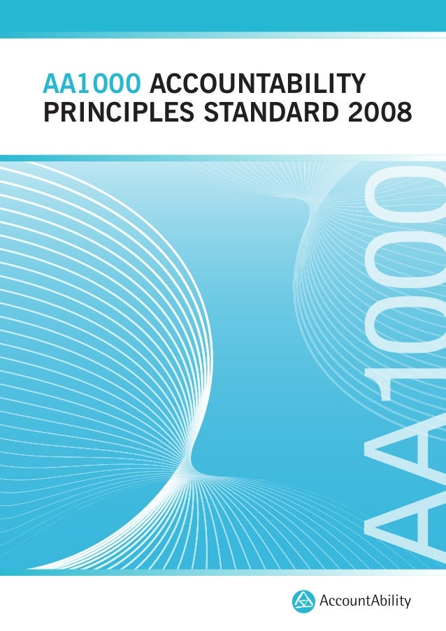 AA1000 ACCOUNTABILITY PRINCIPLES STANDARD 2008