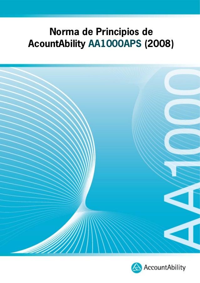 Norma de Principios de AcountAbility AA1000APS (2008)