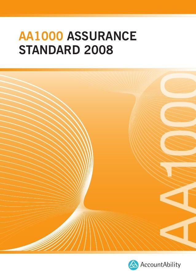 AA1000 ASSURANCE STANDARD 2008