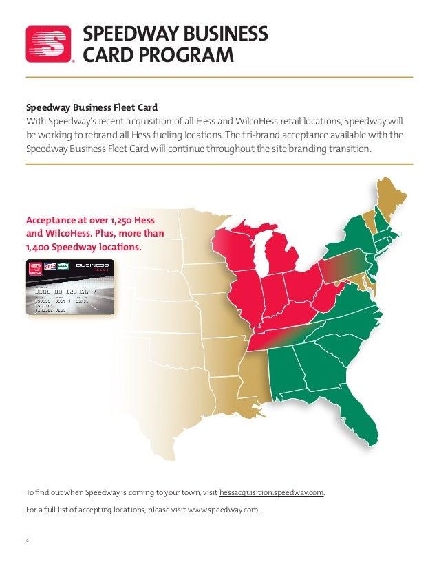 7 6 speedway business card program speedway business fleet - Speedway Fleet Card