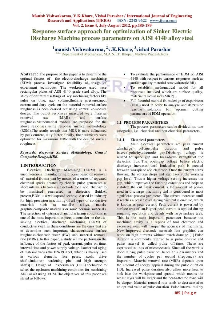 Manish Vishwakarma, V.K.Khare, Vishal Parashar / International Journal of Engineering              Research and Applicatio...