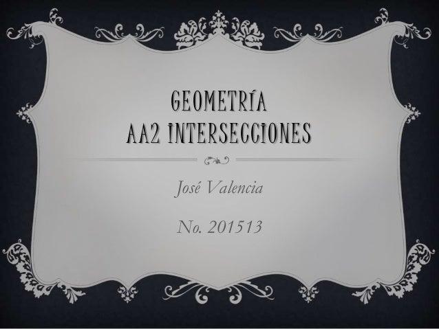 GEOMETRÍA AA2 INTERSECCIONES José Valencia No. 201513