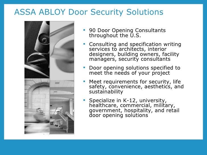ASSA ABLOY Door Security Solutions ...