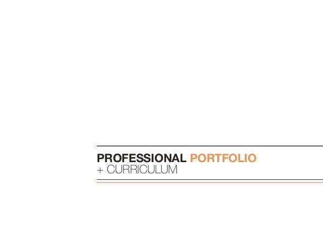 Professional portfolio + Curriculum