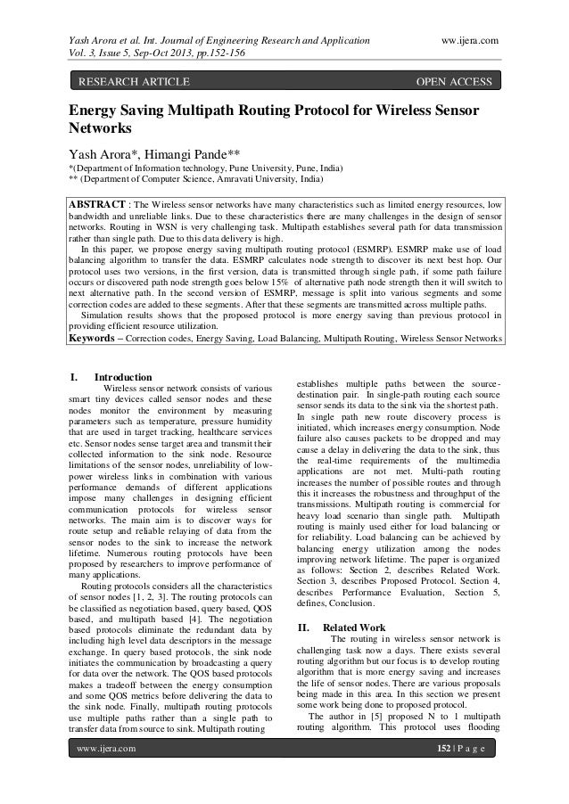 Yash Arora et al. Int. Journal of Engineering Research and Application ww.ijera.com Vol. 3, Issue 5, Sep-Oct 2013, pp.152-...