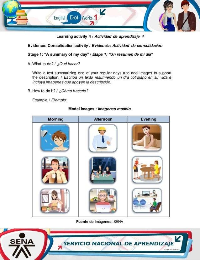 Learning activity 4 / Actividad de aprendizaje 4 Evidence: Consolidation activity / Evidencia: Actividad de consolidación ...
