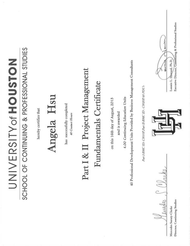 Uh Project Management Certificate