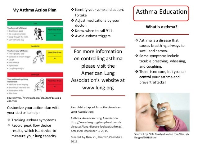 Asthma flyer for Asthma brochure template