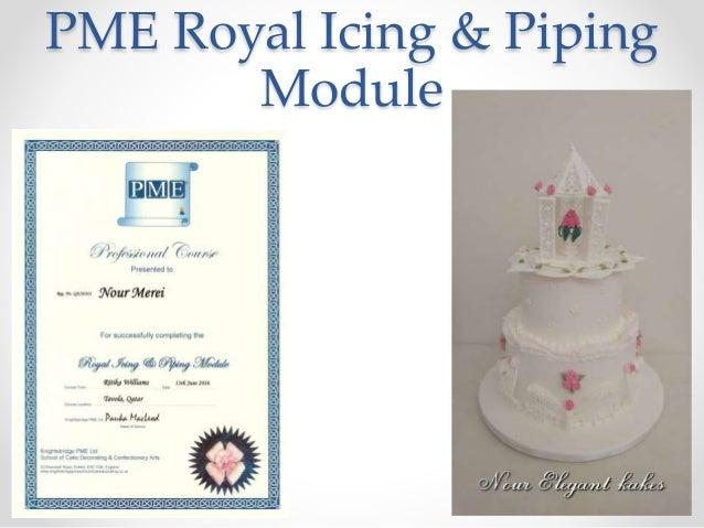 Course Cake Presentation Certificate Nour Merei