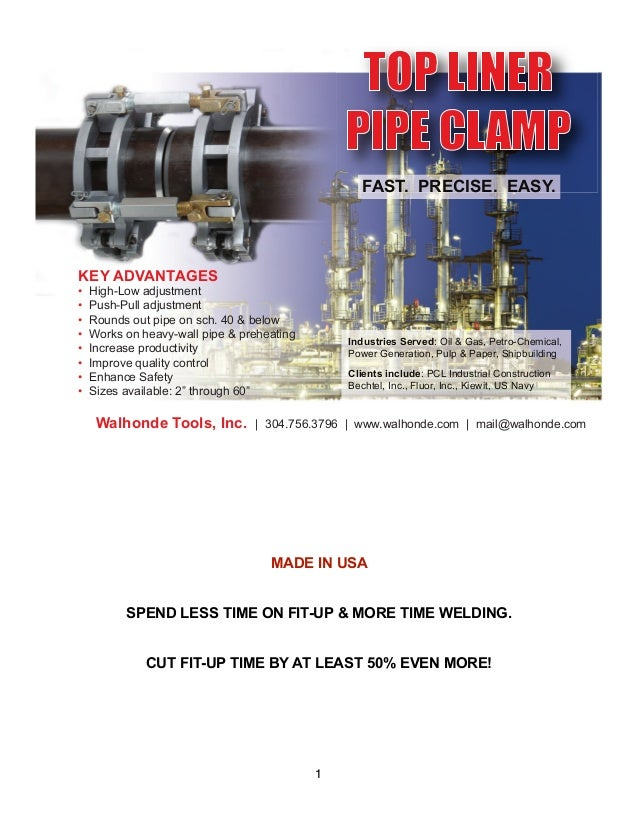 Top Liner Pipe Clamp Documentation