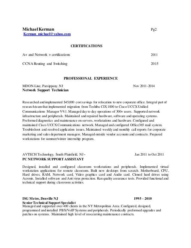 CCNA Revised Resume