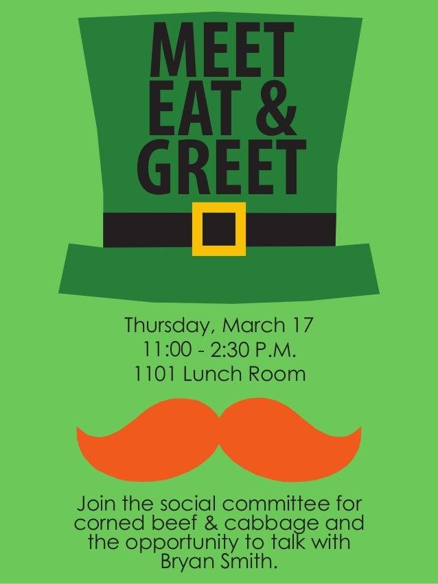 meet and greet flyer
