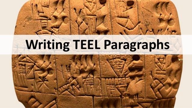 Writing TEEL Paragraphs