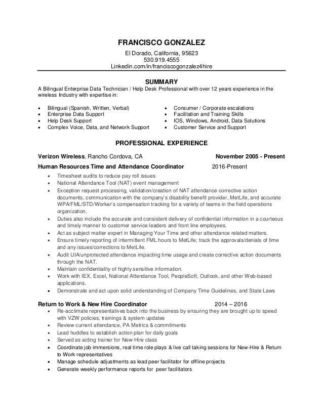 FRANCISCO GONZALEZ El Dorado, California, 95623 530.919.4555 Linkedin.com/in/franciscogonzalez4hire SUMMARY A Bilingual En...