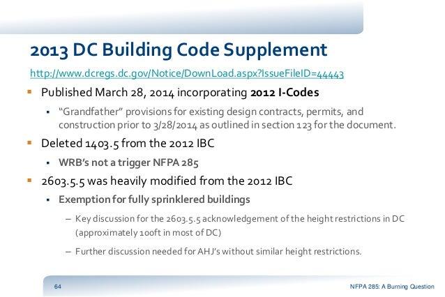Dc Building Code Supplement