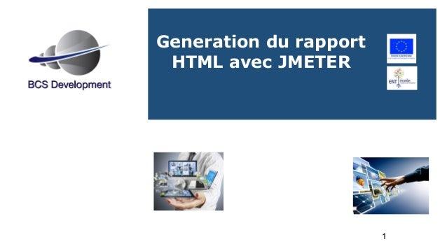 1 Generation du rapport HTML avec JMETER