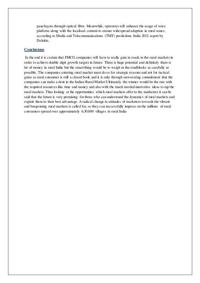 project report on rural marketing strategies of fmcg products The himalaya drug - rural marketing manager (6-8 yrs), bangalore, marketing,rural marketing,fmcg marketing, iim mba jobs - iimjobscom.