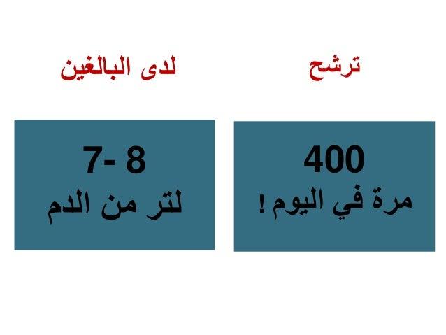 البالغين لدى 7- 8 الدم من لتر ترشح 400 ! اليوم في مرة