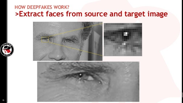 HOW DEEPFAKES WORK? >Extract faces from source and target image 15