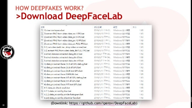 (Downlink: https://github.com/iperov/DeepFaceLab) HOW DEEPFAKES WORK? >Download DeepFaceLab 33