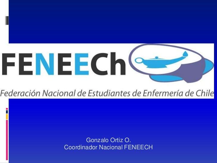 Gonzalo Ortiz O.Coordinador Nacional FENEECH