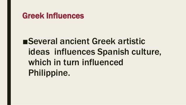 influences on philippine literature Being an archipelago consisting of 7,107 islands, cultural influence in the   although recent literature suggests that there is conflict in this.