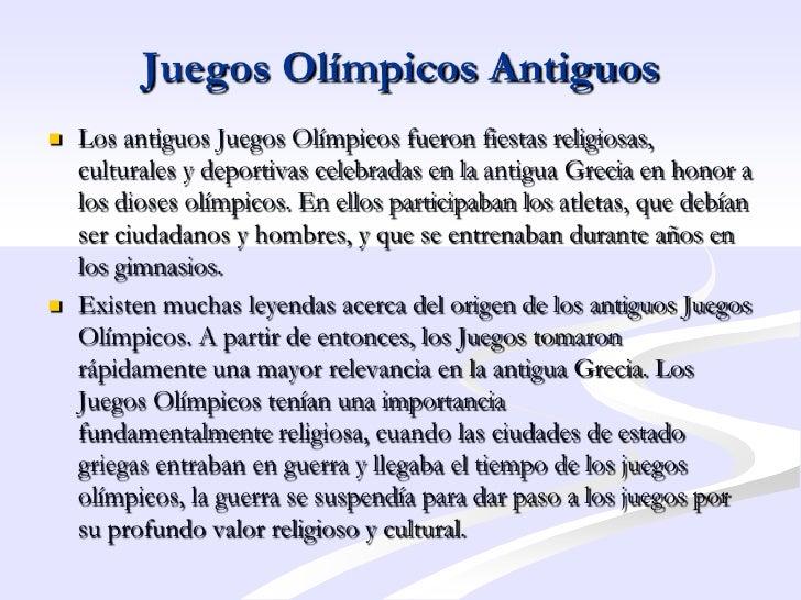 Historia Juegos Olimpicos