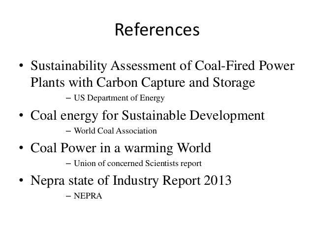 Sustainability with Regards to coal energy Production Slide 2
